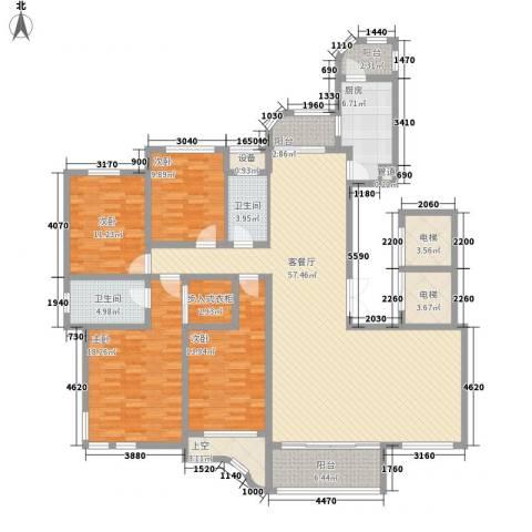 文峰城市广场4室1厅2卫1厨221.00㎡户型图