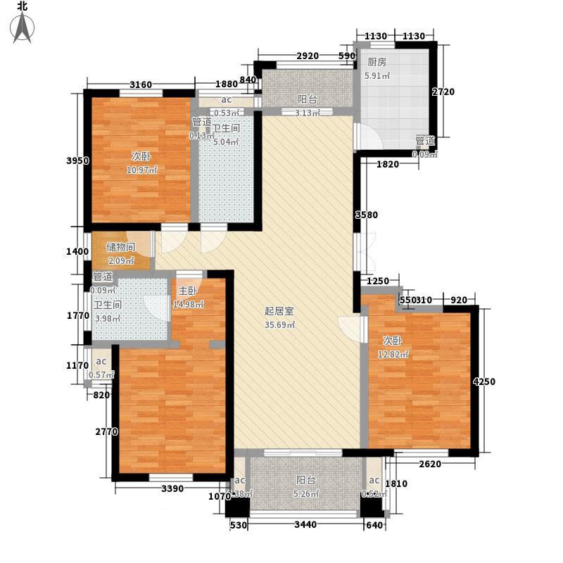 海湾壹号148.84㎡海湾壹号户型图户型图3室2厅2卫1厨户型3室2厅2卫1厨