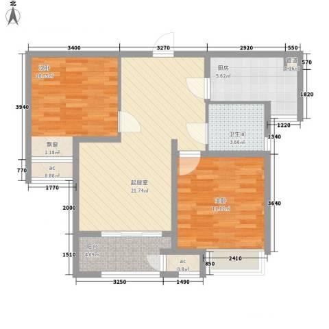 7星首府2室0厅1卫1厨85.00㎡户型图