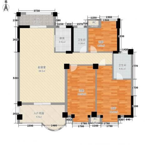 山水华景3室0厅2卫1厨149.00㎡户型图
