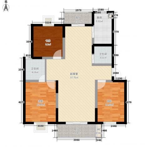 太湖明珠苑3室0厅2卫1厨132.00㎡户型图
