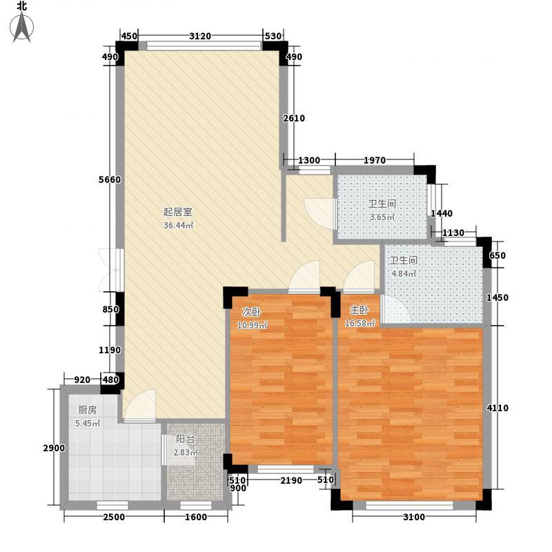 向阳湖社区125.00㎡3室2厅户型3室2厅2卫1厨