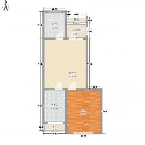 恒润御林湾1室0厅1卫1厨98.00㎡户型图
