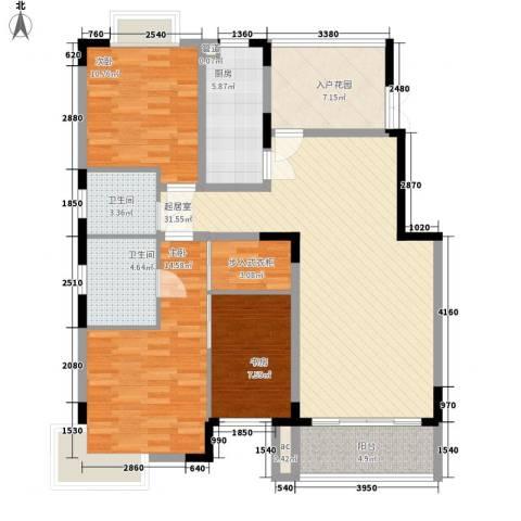生活艺术城(art国际)3室0厅2卫1厨113.00㎡户型图