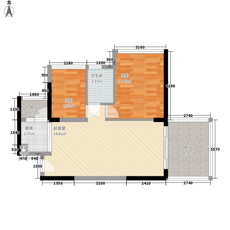香雅园65.24㎡香雅园户型图D座E户型2室2厅1卫1厨户型2室2厅1卫1厨
