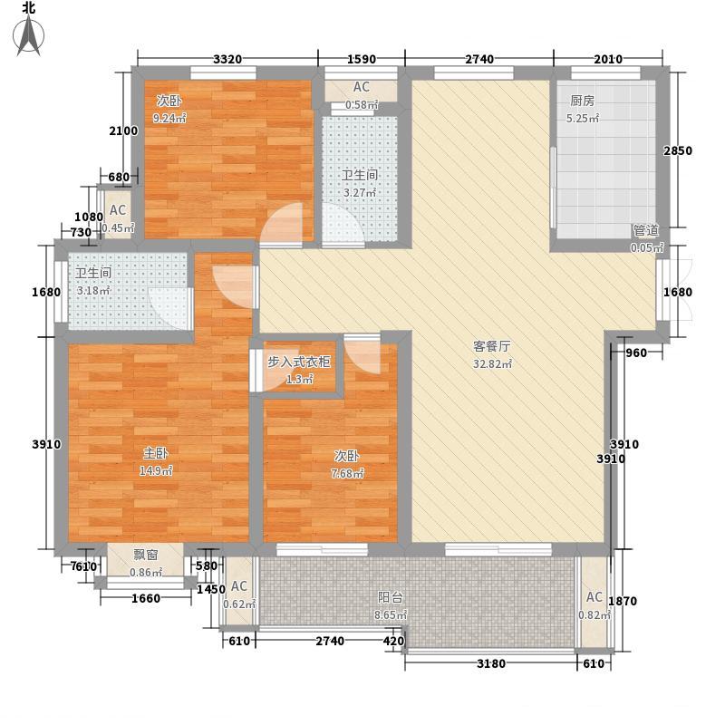 公园一号128.00㎡公园一号户型图WG17户型3室2厅2卫户型3室2厅2卫