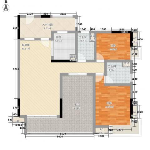 美好家园2室0厅2卫1厨97.14㎡户型图