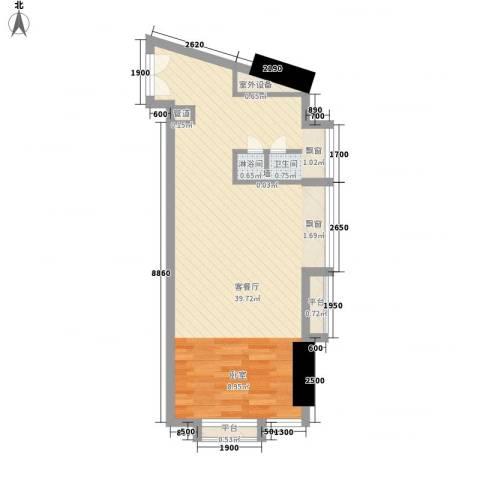 番禺万达广场1厅0卫0厨56.00㎡户型图