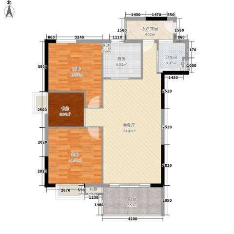 金丰大厦3室1厅1卫1厨117.00㎡户型图