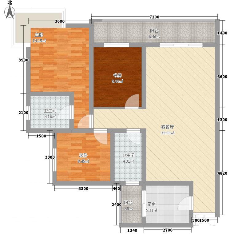 人和天地户型图GA4 3室2厅2卫