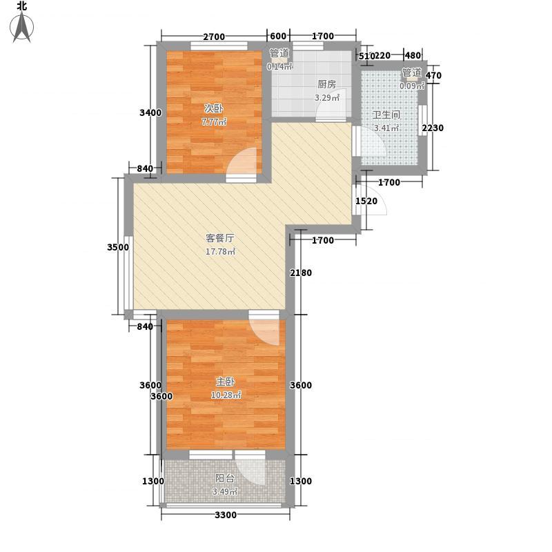 汇水湾68.05㎡汇水湾户型图E户型2室2厅1卫户型2室2厅1卫