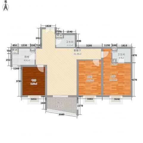 兴庆宫3室1厅2卫1厨127.00㎡户型图