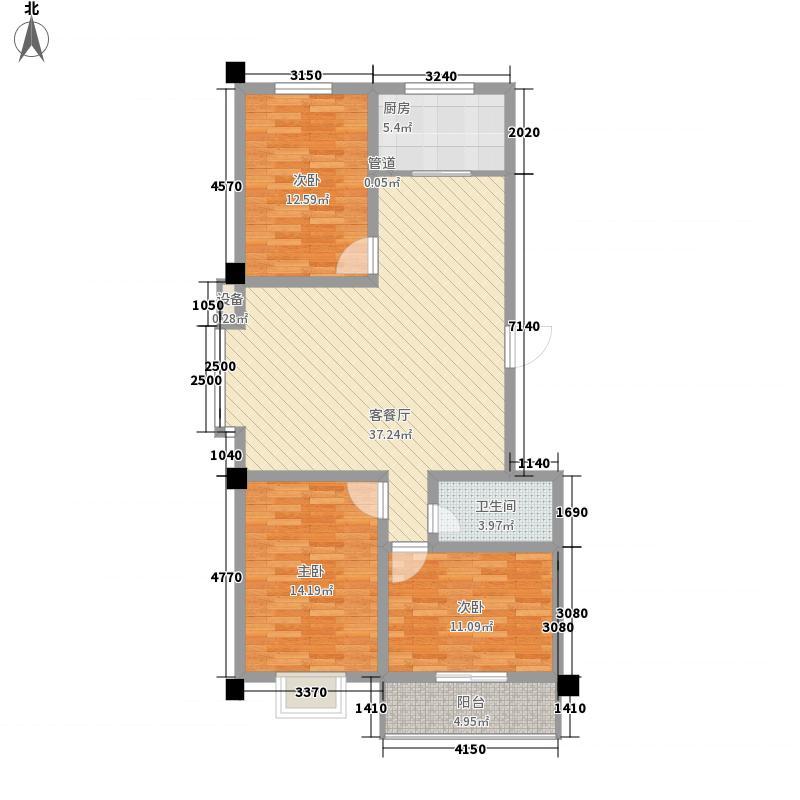 新都会联邦花园135.00㎡新都会联邦花园3室户型3室