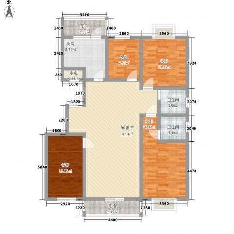 臻观苑4室1厅2卫1厨166.00㎡户型图