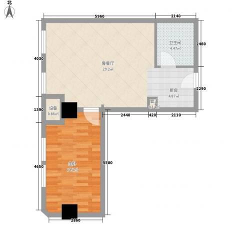 乐客来国际商业中心1室1厅1卫0厨56.00㎡户型图