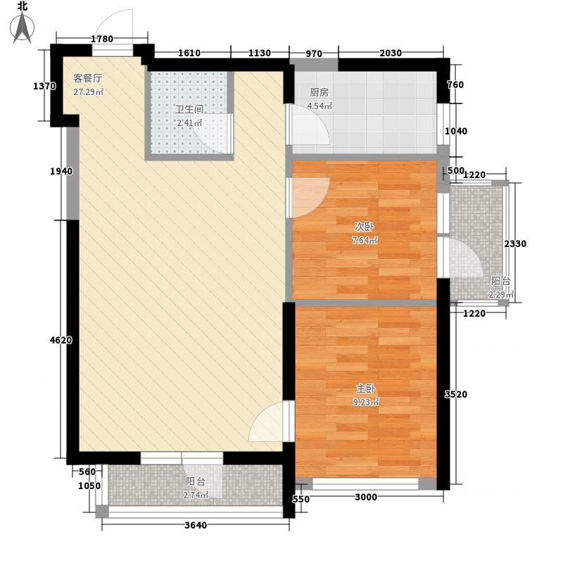 中交金海湾70.90㎡中交金海湾户型图2号楼11户型2室2厅1卫1厨户型2室2厅1卫1厨