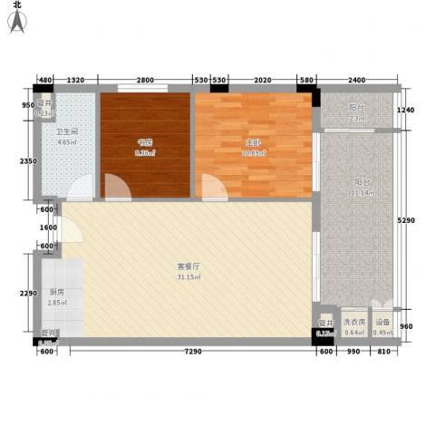 阳光半山森景2室1厅1卫0厨89.00㎡户型图