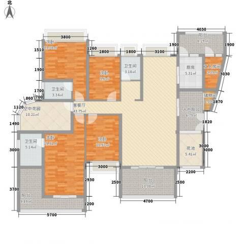 丰尚国际4室1厅3卫1厨176.00㎡户型图