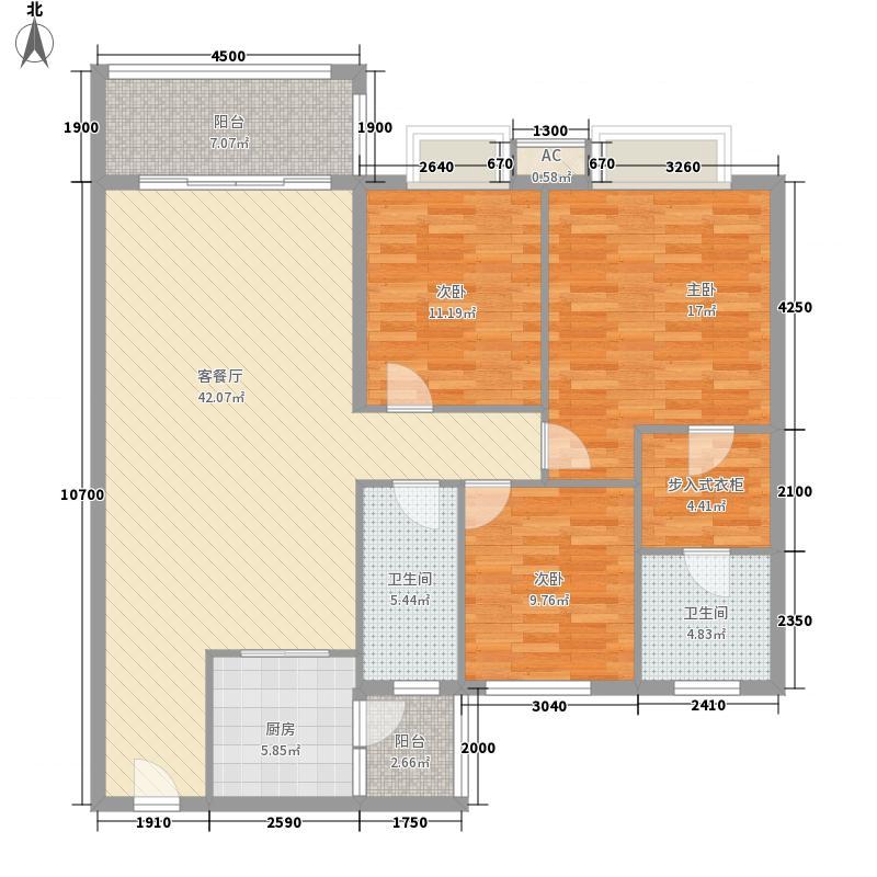 新世界花园116.00㎡新世界花园3室户型3室