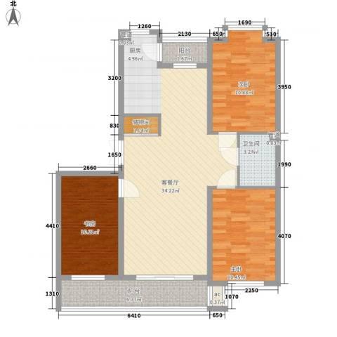 伸马梧桐湾3室1厅1卫0厨112.00㎡户型图