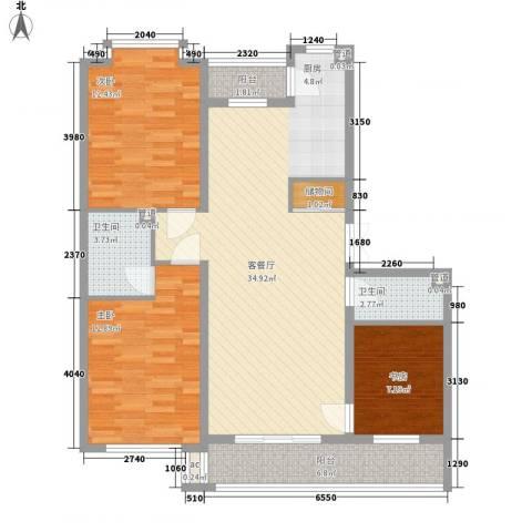 伸马梧桐湾3室1厅2卫0厨120.00㎡户型图