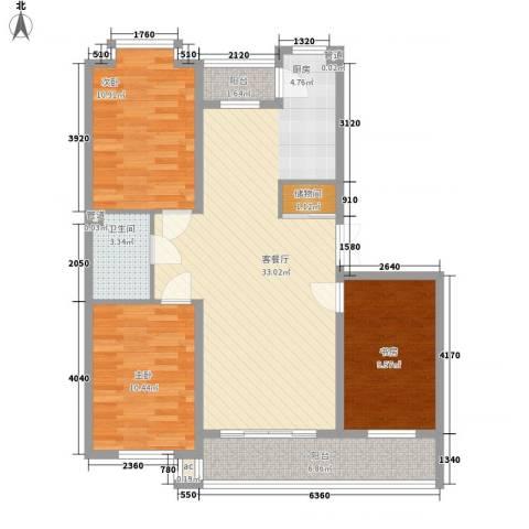 伸马梧桐湾3室1厅1卫0厨110.00㎡户型图