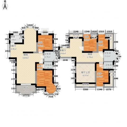 香格里拉・水岸绿城5室2厅4卫1厨225.00㎡户型图