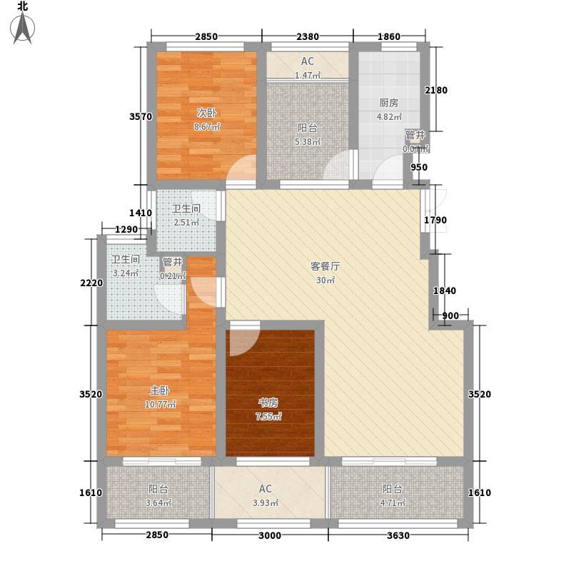 荣域花园128.00㎡小高层2#E面积12800m户型