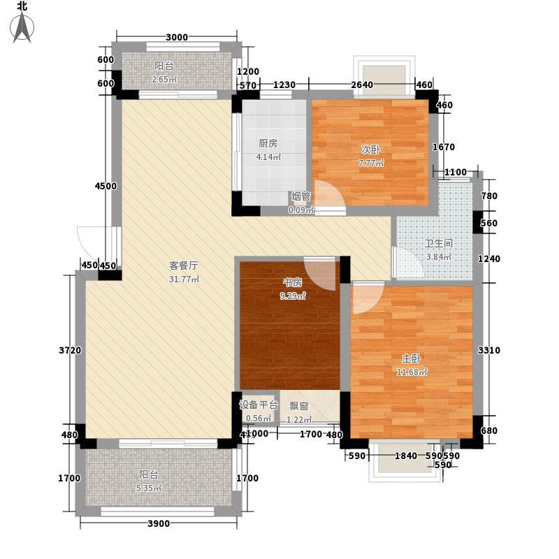 同和水岸香堤8.00㎡户型3室2厅1卫1厨