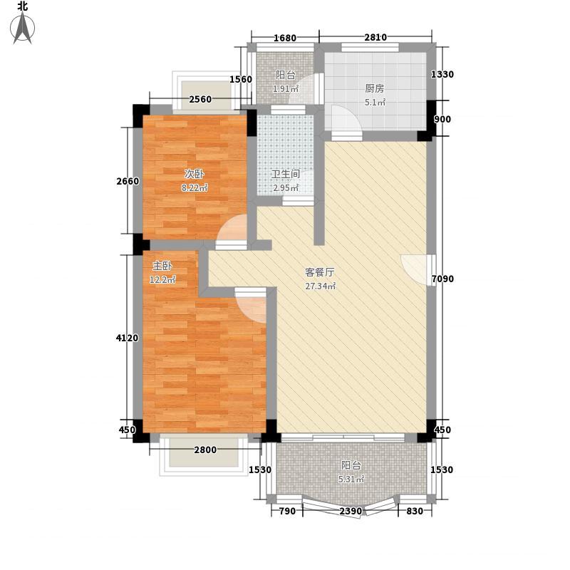 龙翔花园77.99㎡龙翔花园户型图户型图2室2厅户型2室2厅