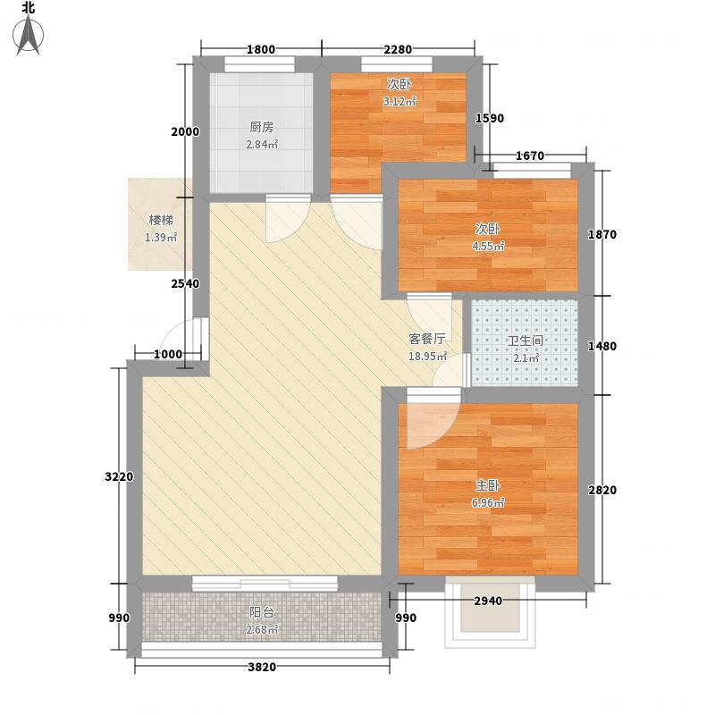 长城惠兰园16.00㎡C户型3室2厅1卫1厨