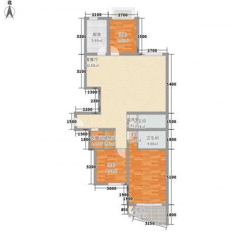 欣中爱丁堡项目3室1厅2卫1厨144.00㎡户型图