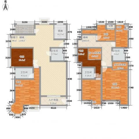 香格里拉・水岸绿城7室1厅4卫1厨345.00㎡户型图
