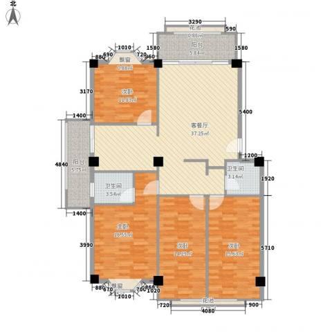 大唐长风一期4室1厅2卫0厨161.00㎡户型图