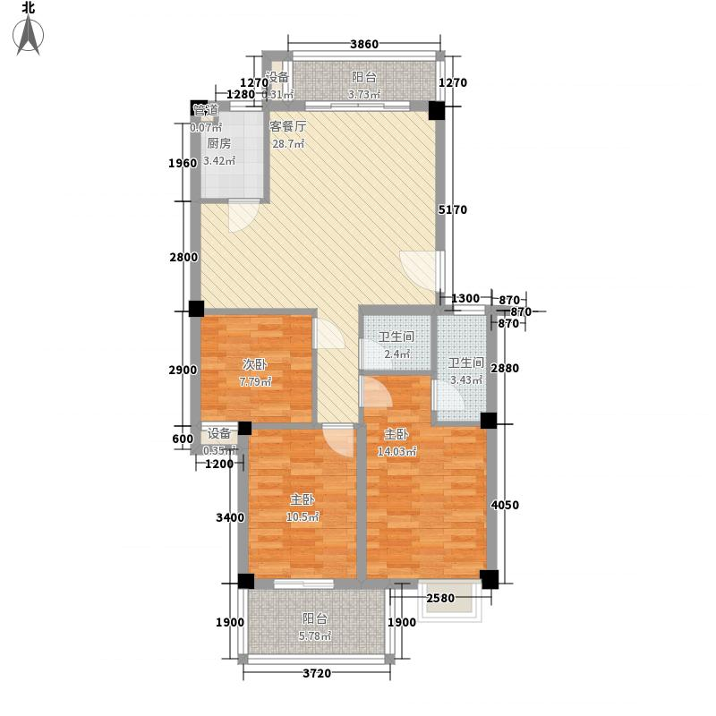摩卡小城96.92㎡摩卡小城户型图3#02单元2室2厅2卫1厨户型2室2厅2卫1厨