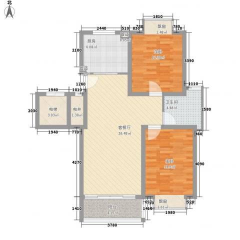 御河苑2室1厅1卫1厨103.00㎡户型图