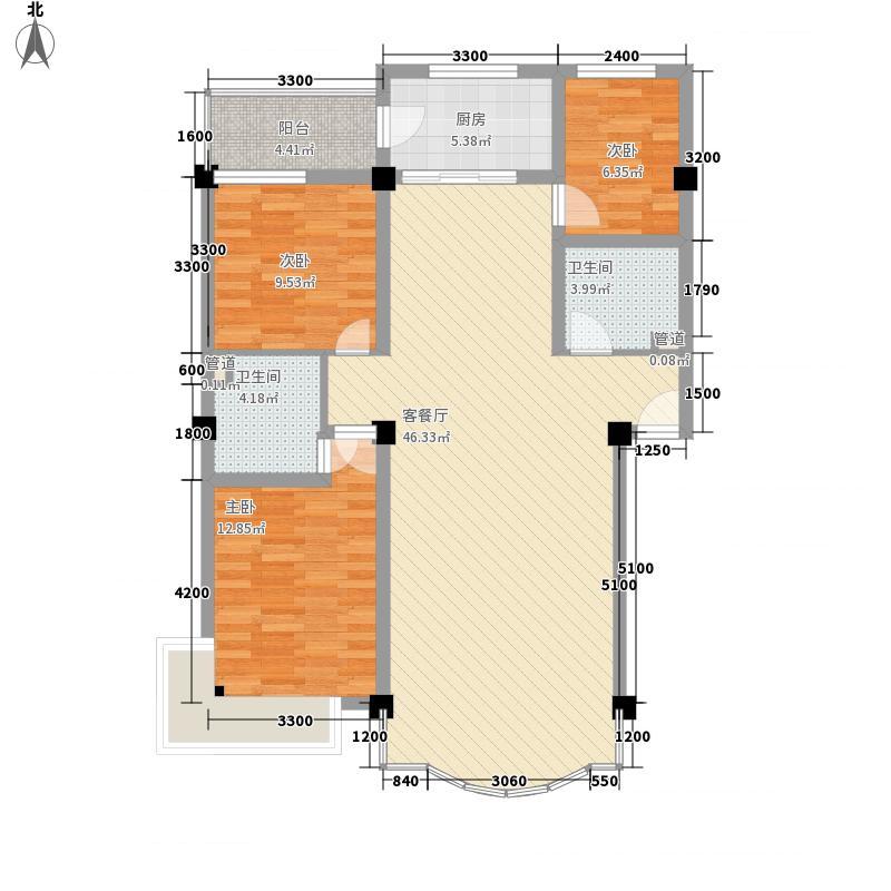 山水南苑111.84㎡山水南苑户型图B户型3室2厅2卫1厨户型3室2厅2卫1厨