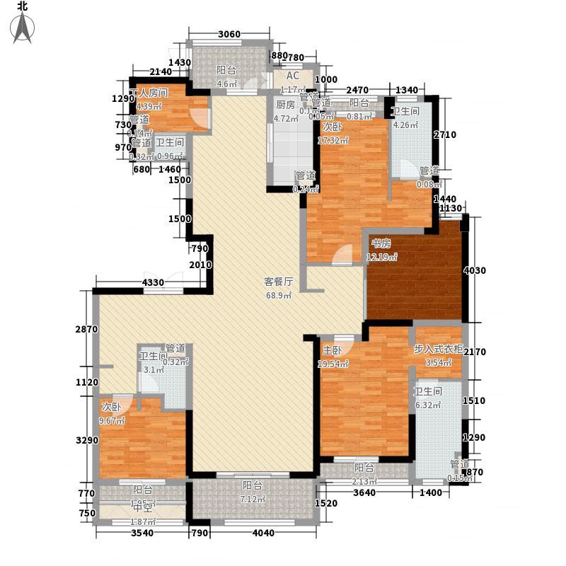 壹号公馆251.00㎡壹号公馆户型图G8号楼R户型4室3厅4卫1厨户型4室3厅4卫1厨
