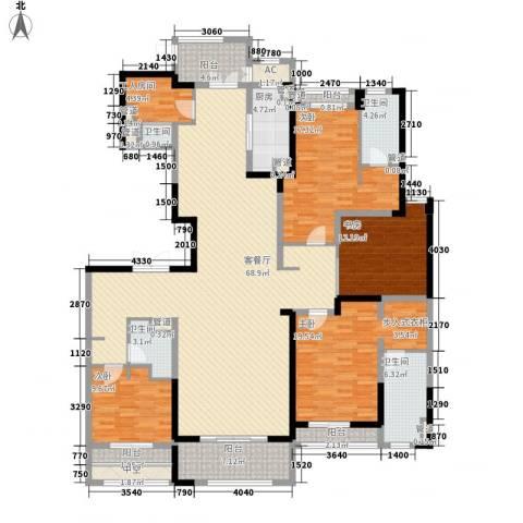壹号公馆4室1厅4卫1厨251.00㎡户型图