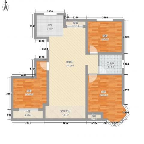 金洋石河湾3室1厅1卫0厨80.70㎡户型图