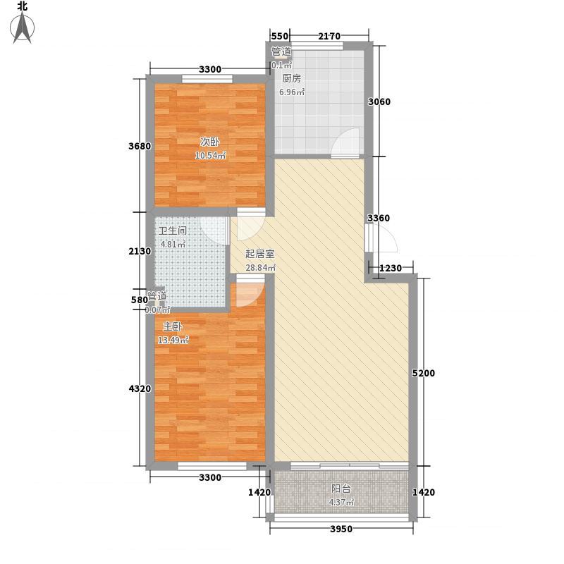 示范・和平家园二期96.00㎡示范・和平家园(二期)2室户型2室