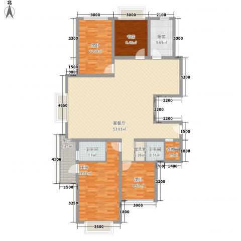 欣中爱丁堡项目4室1厅2卫1厨160.00㎡户型图