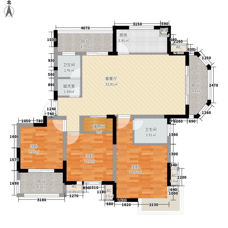浦发领秀城142.50㎡28#、30-33#东户G2户型3室2厅2卫1厨