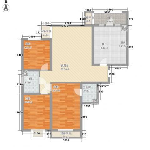 阳光绿景3室0厅2卫1厨141.00㎡户型图