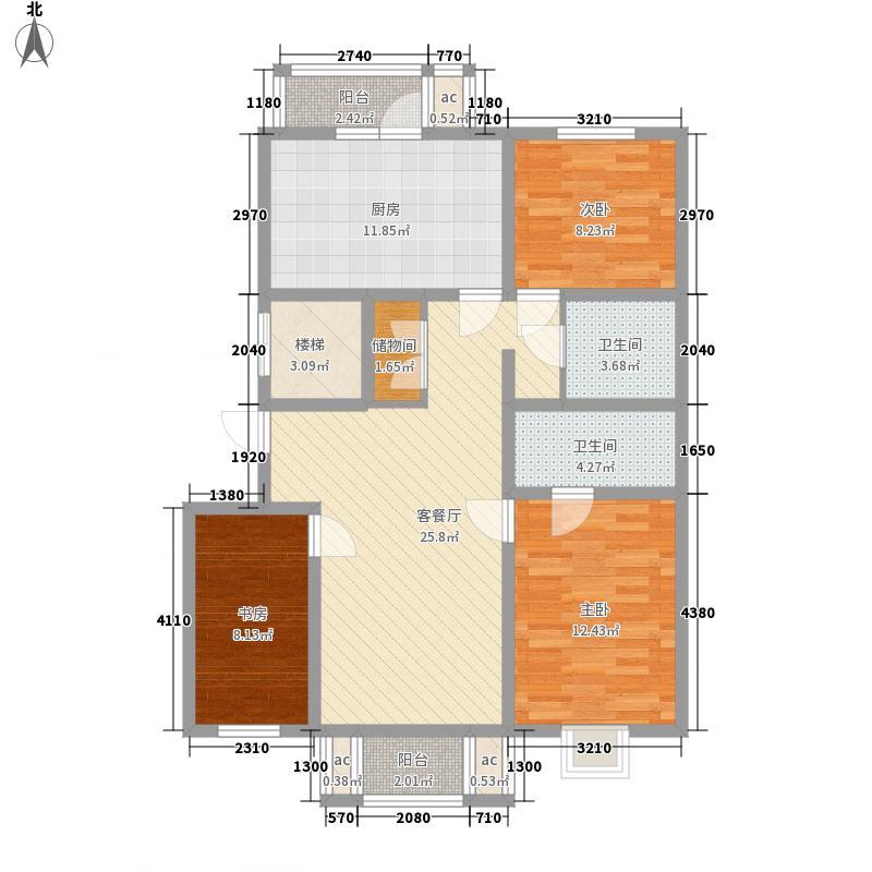 欧洲新城欧洲新城户型图使用面积96.55㎡3室1厅2卫1厨户型3室1厅2卫1厨