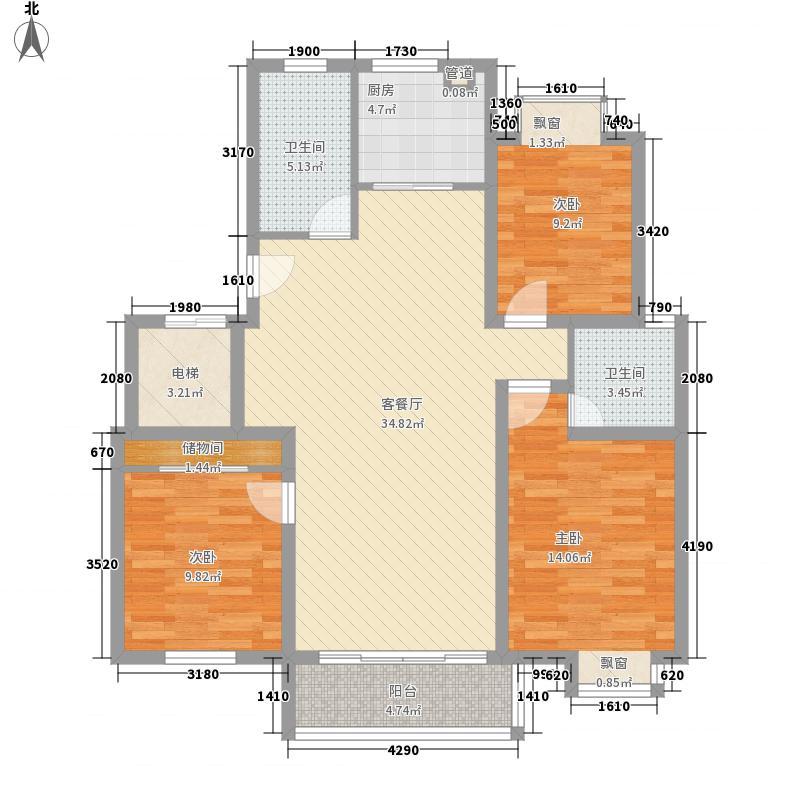 御河苑130.34㎡御河苑户型图3室2厅2卫户型10室