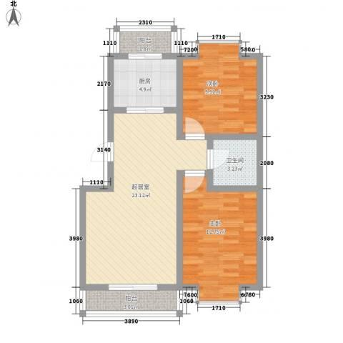 边家村小区2室0厅1卫1厨86.00㎡户型图