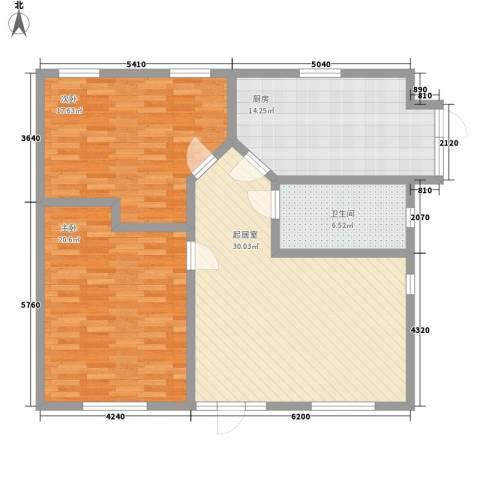 天建南苑旅游度假村2室0厅1卫1厨125.00㎡户型图