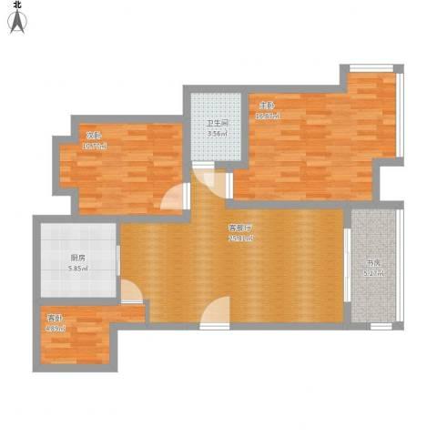 小岛花园4室1厅1卫1厨105.00㎡户型图