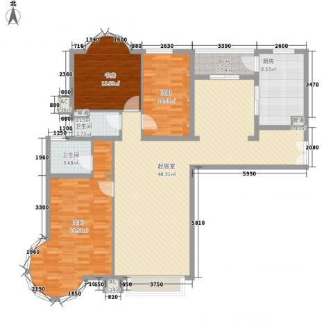 大雄城市花园一幅画卷3室0厅2卫1厨159.00㎡户型图